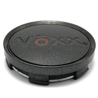 "Voxx Aftermarket Black Wheel Center Hub Cap Snap In 2.25"" OD L01812"
