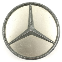 "1992-2018 Mercedes Benz OEM Silver Wheel Center Hub Cap Snap In 3"" OD 2204000125"