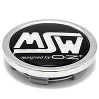 "MSW by OZ Black Snap In Wheel Center Hub Cap 2.5"" OD PCH-89"