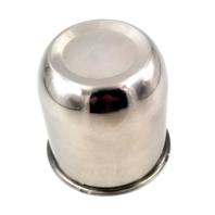 "Topline 3.25"" Stainless Steel Push Thru Wheel Center Hub Cap fits 4&5 Lug Wheel"