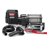 Warn Jeep Winch 4000 DC 4000 lb Capacity Roller 12 ft Remote 43 ft Steel Rope