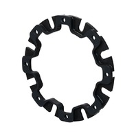Brake Rotor Adapter - Wide 5 Hub to 8 x 7.000 in Rotor Bolt Pattern - Steel - Black Oxide - Each
