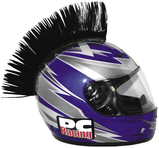 PC Racing Helmet Mohawk - Black - PHCMBLACK