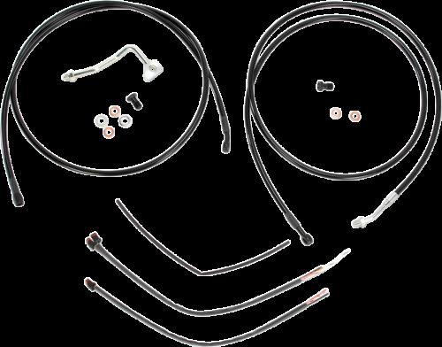 Burly Black Cables / Brake Lines Kit 13in. Ape Hangers B30-1115