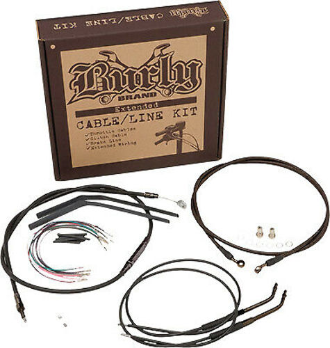16in Extended Cable/Brake Line Kit for Burly Ape Handlebars B30-1005