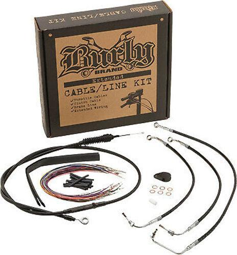 Burly Extended Black Vinyl Cable/Brake Line Kit for Gorilla Bars B30-1069