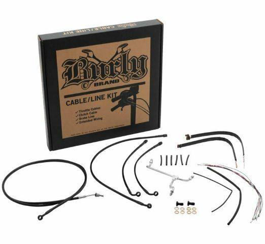 Burly Black Cables / Brake Lines Kit 14in. Gorilla Bars B30-1173