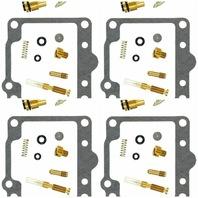 4x Carburetor Rebuild Kits for Kawasaki KZ1000 LTD CSR 81-82 K&L 18-2436V