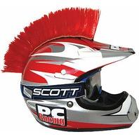 PC Racing Helmet Mohawk - Red - PCHMRED