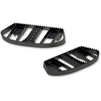 Burly Black Driver MX-Style Floorboards B13-1050B for Harley-Davidsons