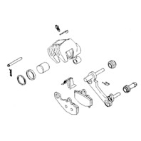 Suzuki Front Brake Caliper Repair Kit K & L Supply 32-1434