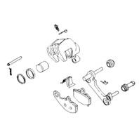 Yamaha Front Brake Caliper Repair Kit K & L Supply 32-1602