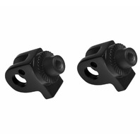 Kuryakyn Splined Adaptor Mounts for Cruisers Front, Satin Black 8905