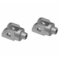 Kuryakyn Splined Adaptor Mounts for Cruisers Front, Silver 8902
