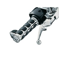 Kuryakyn Premium ISO-Grips with Chrome Accent Rings with Throttle Boss - (i6228