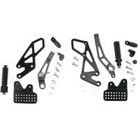 Vortex Black Adjustable Rear Set Version 2 Foot Pegs - RS553K