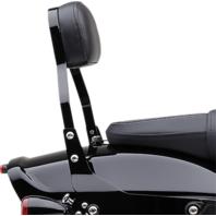 Cobra Black Detachable Backrest for Harley-Davidson's - 602-2028B