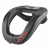 EVS Youth R4 Race Collar Black - R4-BK-Y