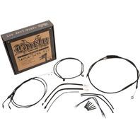 Burly Black Cables / Brake Lines Kit 14in. Ape Hangers B30-1107