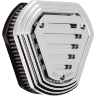 Burly Chrome Hex Air Cleaners B09-0009C