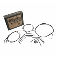 Burly Black Cables / Brake Lines Kit 8in. Ape Hangers B30-1138