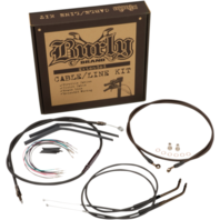 "Burly 14"" Black Vinyl Handlebar Cable and Brake Line Kits for Jail Bars B30-1145"