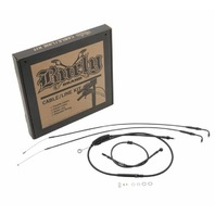 Burly Black Cables / Brake Lines Kit Clubman Bars B30-1097