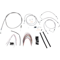 "Burly 14"" Ape Hanger Braided Stainless Steel Cable/Brake Line Kit - B30-1094"