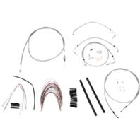 "Burly 16"" Ape Hanger Braided Stainless Steel Cable/Brake Line Kit - B30-1095"