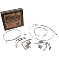 "Burly 18"" Ape Hanger Braided Stainless Steel Cable/Brake Line Kit - B30-1096"
