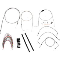 "Burly 16"" Ape Hanger Braided Stainless Steel Cable/Brake Line Kit - B30-1089"