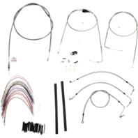 "Burly 14"" Ape Hanger Braided Stainless Steel Cable/Brake Line Kit - B30-1082"