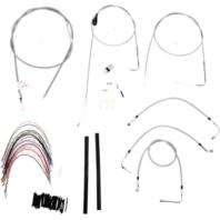 "Burly 16"" Ape Hanger Braided Stainless Steel Cable/Brake Line Kit - B30-1083"