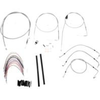 "Burly 18"" Ape Hanger Braided Stainless Steel Cable/Brake Line Kit - B30-1084"