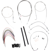 "Burly 16"" Ape Hanger Braided Stainless Steel Cable/Brake Line Kit - B30-1077"