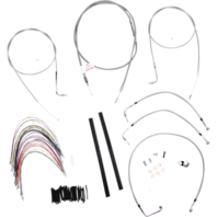 "Burly 18"" Ape Hanger Braided Stainless Steel Cable/Brake Line Kit - B30-1078"