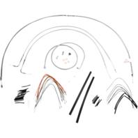 "Burly 16"" Ape Hanger Braided Stainless Steel Cable/Brake Line Kit - B30-1054"
