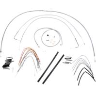"Burly 14"" Ape Hanger Braided Stainless Steel Cable/Brake Line Kit - B30-1052"