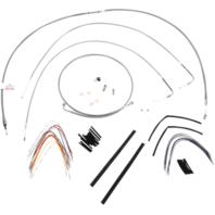 "Burly 14"" Ape Hanger Braided Stainless Steel Cable/Brake Line Kit - B30-1051"