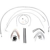 "Burly 16"" Ape Hanger Braided Stainless Steel Cable/Brake Line Kit - B30-1055"