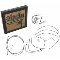 Burly Stainless Braid Cables / Brake Lines Kit 14in. Gorilla Bars B30-1161