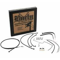Burly Black Cables / Brake Lines Kit 16in. Gorilla Bars B30-1186