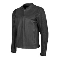 Speed & Strength Men's Ground And Pound Leather-Denim Jacket - Black - All Sizes