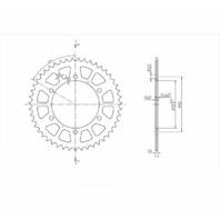 BikeMaster Rear Steel Sprockets 520 47T - 240 855 47