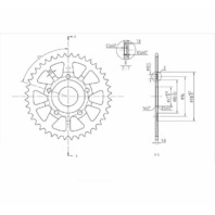 BikeMaster Rear Steel Sprockets 520 40T - 241 353 40