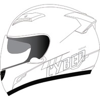 Cyber Helmets US-80 SolidFull Face Helmet - All Colors & Sizes