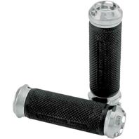 Performance Machine Chrome Apex Handlebar Grip Set - Dual Cable - 0063-2043-CH