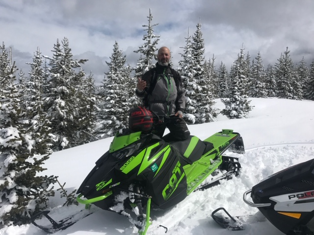 Ed with snowmobile