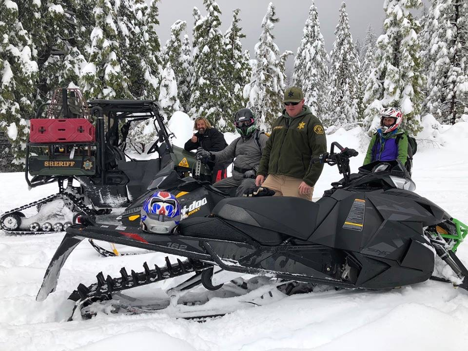 Jerry and snowmobiles