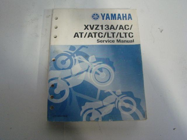 Yamaha Motorcycle 1996-2001 XVZ1300A AT LT-C Service Manual Part# LIT-11616-VZ-01